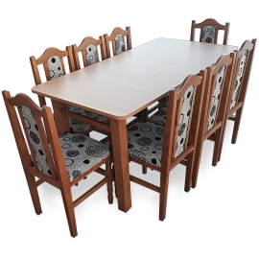 MM7 Set masa + 8 scaune